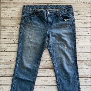 New York & Company slim slouch jeans 14